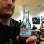 Having a soda during a lecture or software editing