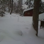 Ahhhh.. The cabin.... let's dig out that door and get inside.